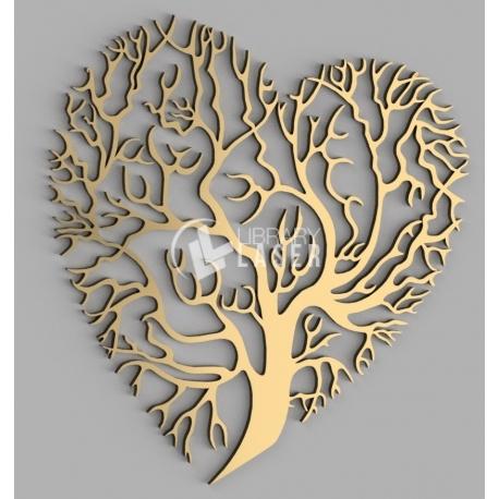 Tree heart design