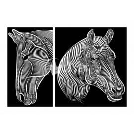 Horse painting design