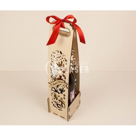 Botella de navidad diseño