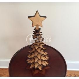 Mini tabletop christmas tree design