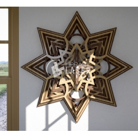 Wooden star design