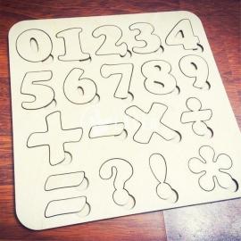 Número matemáticas diseño