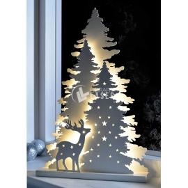 Lámpara árbol y reno de navidad diseño