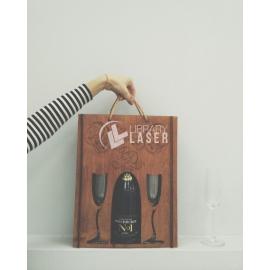 Porta vino y copas diseño