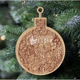 Christmas sphere design