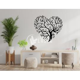 Árbol de la vida en forma de corazón diseño