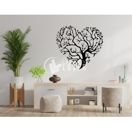 Heart shaped tree of life design