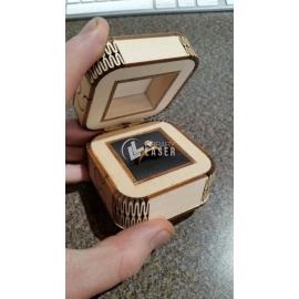 Caja de anillo de boda diseño