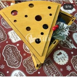 Caja en forma de queso diseño