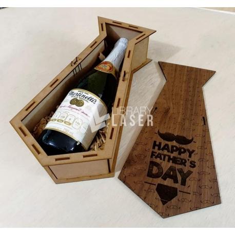 Wine holder tie design