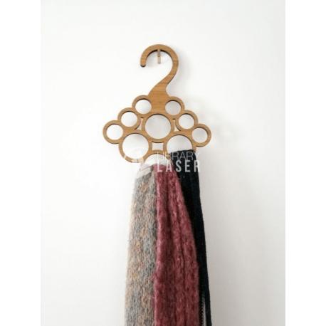 Gancho para bufandas diseño