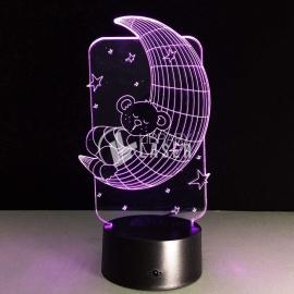Moon lamp and teddy bear design