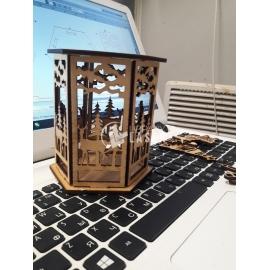 Lámpara navidad diseño