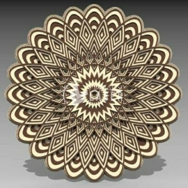 Carved mandala design