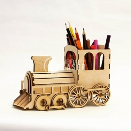Locomotive Pen Organizer design