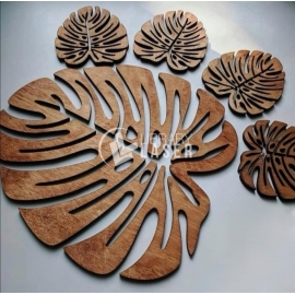 Plant leaf glass holder design