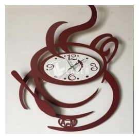 Reloj taza de café diseño