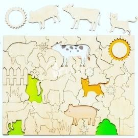 Rompecabezas animales diseño