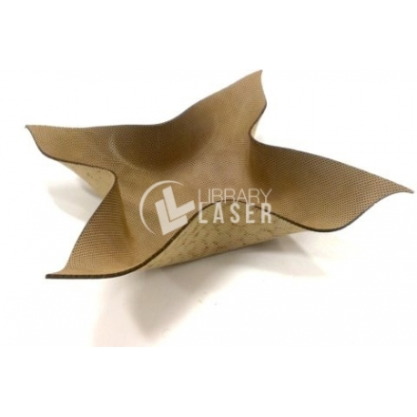 Foldable MDF bowl design