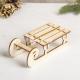 Trineo de madera diseño