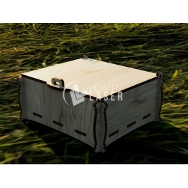 Hinged chest for Laser Cutting