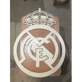 Logotipo Real Madrid Corte Laser