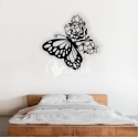 Butterfly and flowers for Laser Cutting