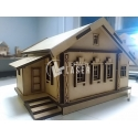 3D house for Laser Cutting