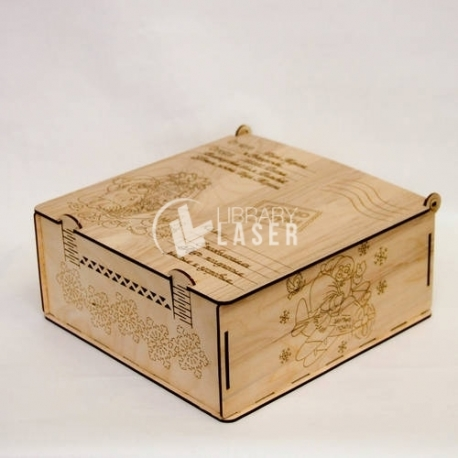 Santa claus box for Laser Cutting