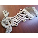 Accordion painting for Laser Cutting