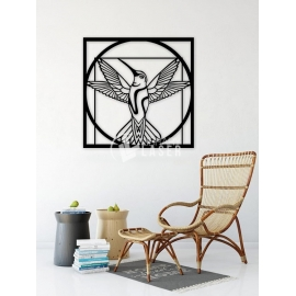 Hummingbird painting for Laser Cutting