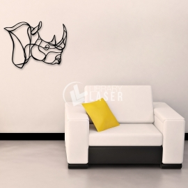Rhinoceros painting for Laser Cutting