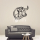 Bull painting for Laser Cutting