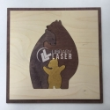 Bear family for Laser Cutting
