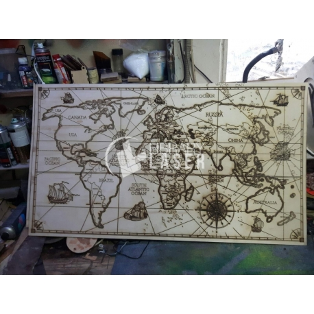 Maps for Laser Cutting