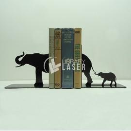 Porta libros elefante para Corte Laser