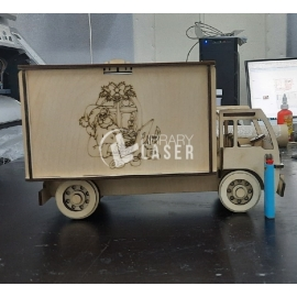 Truck shaped gift box for Laser Cutting