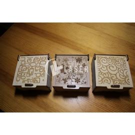 Caja de joyeria grabadas para Corte Laser