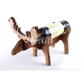 Deer shaped bottle holder for Laser Cutting