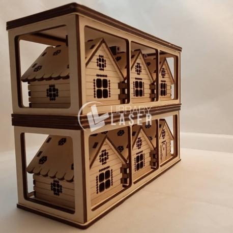 Stand en forma de casas