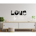 Love cat painting for Laser Cutting