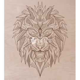 Lion engraving for Laser Cutting