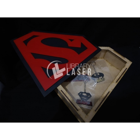Superman box for Laser Cutting