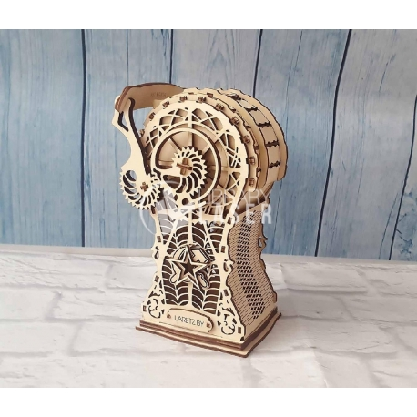 Decorative piggy bank for Laser Cutting