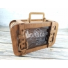 Piggy bank travel suitcase for Laser Cutting