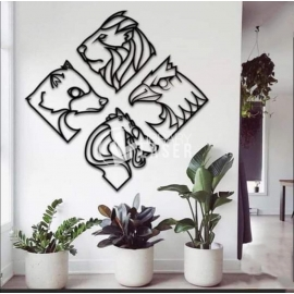 Animals painting for Laser Cutting