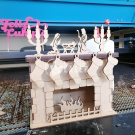Fireplace for Laser Cutting