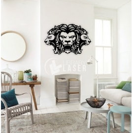 Lion painting for Laser Cutting