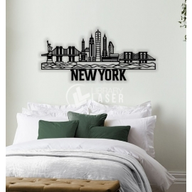 New York painting for Laser Cutting