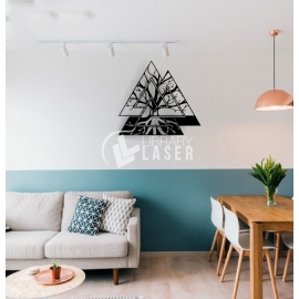 Tree wall decoration for Laser Cutting
